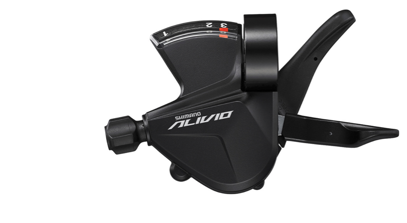 SHIMANO SHIFT LEVER,  SL-M3100-L,  ALIVIO,  LEFT,  3-SPEED  RAPIDFIRE PLUS 1800MM INNER, WITH  OPTICAL GEAR DISPLAY