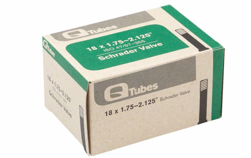 """Q-Tubes Q-Tubes 18"""" x 1.75-2.125"""" Schrader Valve Tube 118g *Low Lead Valve*"""