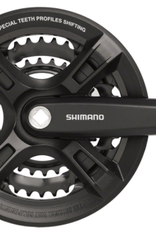 Shimano Shimano Altus FC-M311 Crankset - 170mm, 7/8-Speed, 48/38/28t, Riveted, Square Taper JIS Spindle Interface, Black