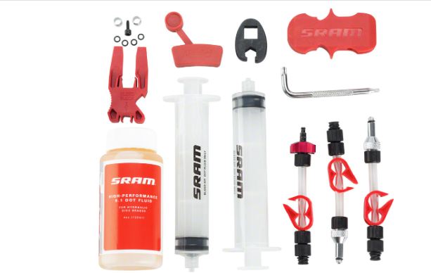 SRAM SRAM Standard Disc Brake Bleed Kit - For SRAM X0, XX, Guide, Level, Code, HydroR, and G2, with DOT Fluid
