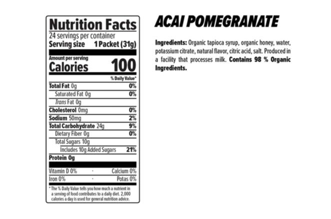 Honey Stinger Honey Stinger Organic Energy Gel: Acai and Pomegranate, Box of 24