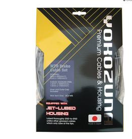 Yokozuna Yokozuna Premium 2x Shift Cable/Housing Kit, 4mm Derailleur - Front Rear  Set Blk Shimano SRAM
