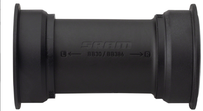 SRAM SRAM DUB PressFit BB386 Bottom Bracket - 386 EVO, 86mm, Road, Black