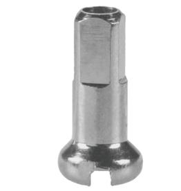 DT Swiss DT Swiss Standard Spoke Nipples - Brass, 2.0 x 12mm, Silver, Box of 100