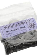 Wheelsmith Wheelsmith 2.0 x 16mm Black Brass Nipples, Bag of 50
