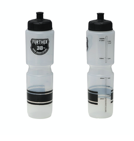 Soma Soma Further 38oz Auto Valve Water Bottle, Clear/Black