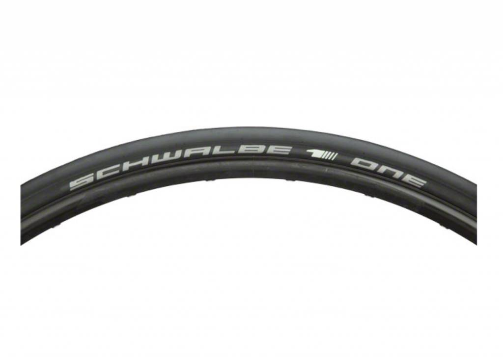 Schwalbe Schwalbe One Road Tire, 700 EVO Folding Bead Black with OneStar Tread Compound and V-Guard Protection