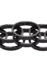 Problem Solvers Problem Solvers Tapered Headset Stack Spacer - 28.6, 5mm, Aluminum, Black, Bag of 10