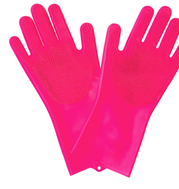 Muc-Off Deep Scrubber Gloves, Large, Pink