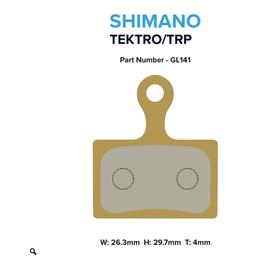 MTX Braking MTX Gold Label Race Brake Pads - Disc Brake Pad for Shimano Flat Mount Brakes Dura-Ace, Ultegra, 105, GRX