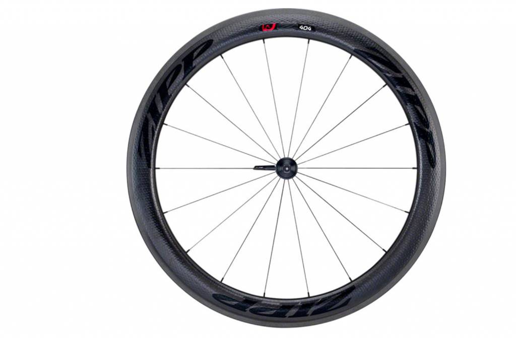 Zipp Speed Weaponry Zipp 404 Firecrest Carbon Clincher Front Wheel, 700c, 18 Spokes, 77, V3, Black Decal