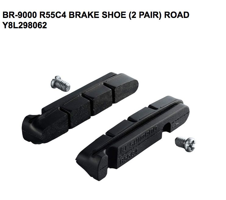 Shimano SHIMANO BR-9000 R55C4 CARTIDGE-TYPE BRAKE SHOE & FIXING BOLTS (2PAIR)