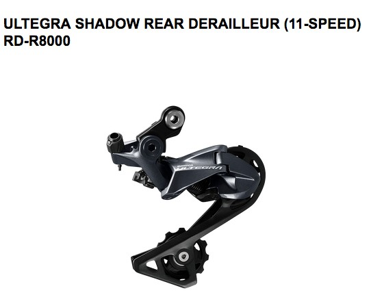 Shimano SHIMANO REAR DERAILLEUR, RD-R8000, ULTEGRA, GS 11-SPEED, SHADOW DESIGN, DIRECT ATTACHMENT, W/OT-RS900(BLACK) 240MM X1, LONG NOSE CAP X1, IND.PACK