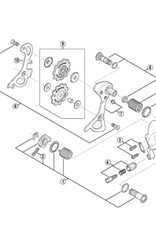 Shimano Shimano RD-7900 Dura-Ace PLATE AXLE ASSEMBLY
