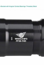 Wheels Manufacturing Wheels Manufacturing PressFit 30 Bottom Bracket with Angular Contact Bearings: Threaded, Black