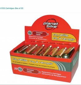 Planet Bike Planet Bike 16g Threaded CO2 Cartridges: Box of 20