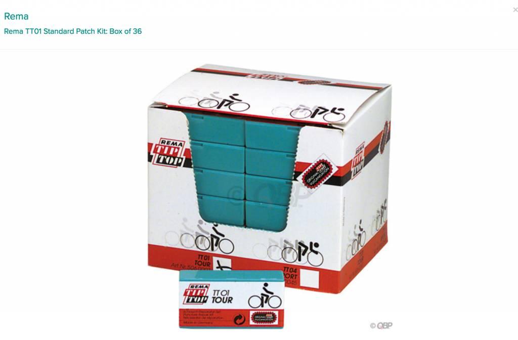 Rema Rema TT01 Standard Patch Kit: Box of 36