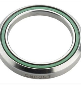 "ABI Headset Bearing ABI 1 1/4"" 45 x 45 Degree Stainless Steel Angular Contact Bearing 34.1mm ID x 46.8mm OD x 7mm wide"