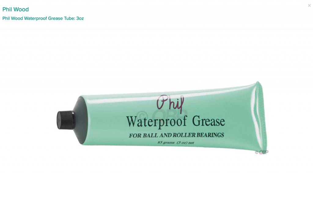 Phil Wood Phil Wood Waterproof Grease Tube: 3oz