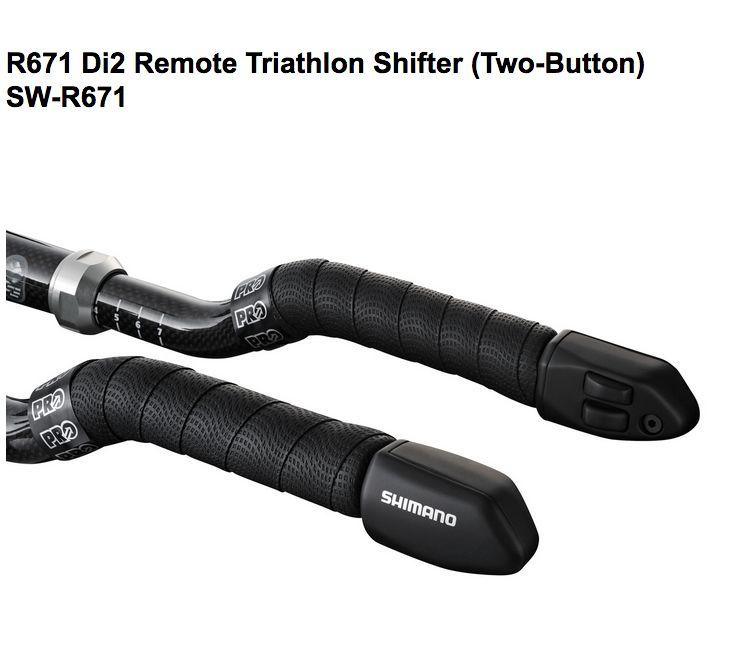 Shimano SHIMANO TRI SHIFTER SET, SW-R671, 2 SHIFT BUTTON DESIGN