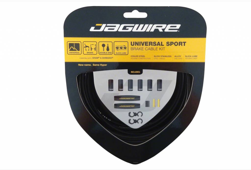 Jagwire Jagwire Universal Sport Brake Cable Kit, Black