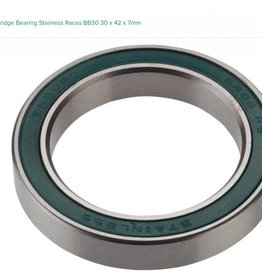 Enduro Enduro 6806 Sealed Cartridge Bearing Stainless Races BB30 30 x 42 x 7mm
