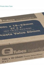 Q-Tubes Q-Tubes Superlight 700c x 18-23mm 60mm Presta Valve Tube