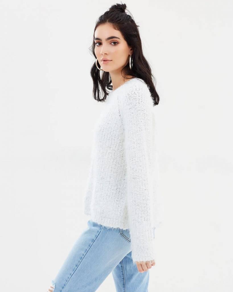 MINKPINK Knit Fluffy Raglan Sweater