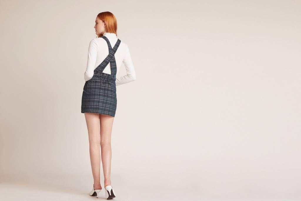 Jack by BB Dakota Plaid Influence Pinafore Skirt