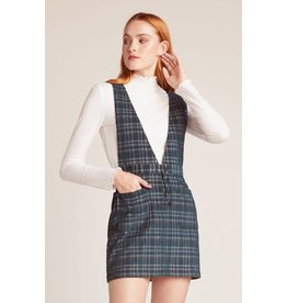 Jack by BB Dakota Plaid Influence Pinafore Skirt