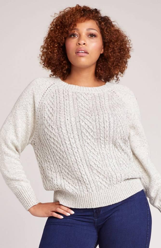 Jack by BB Dakota Secret Bow-mance Cable Knit Sweater