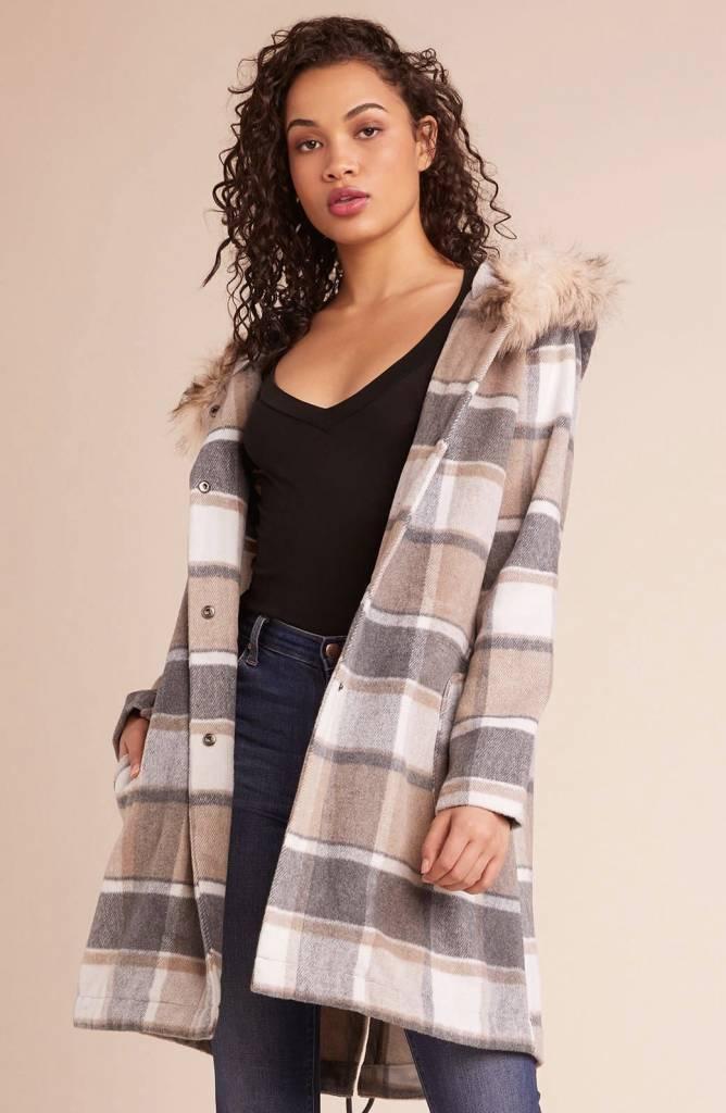 BB Dakota You Oughta Know Plaid Coat