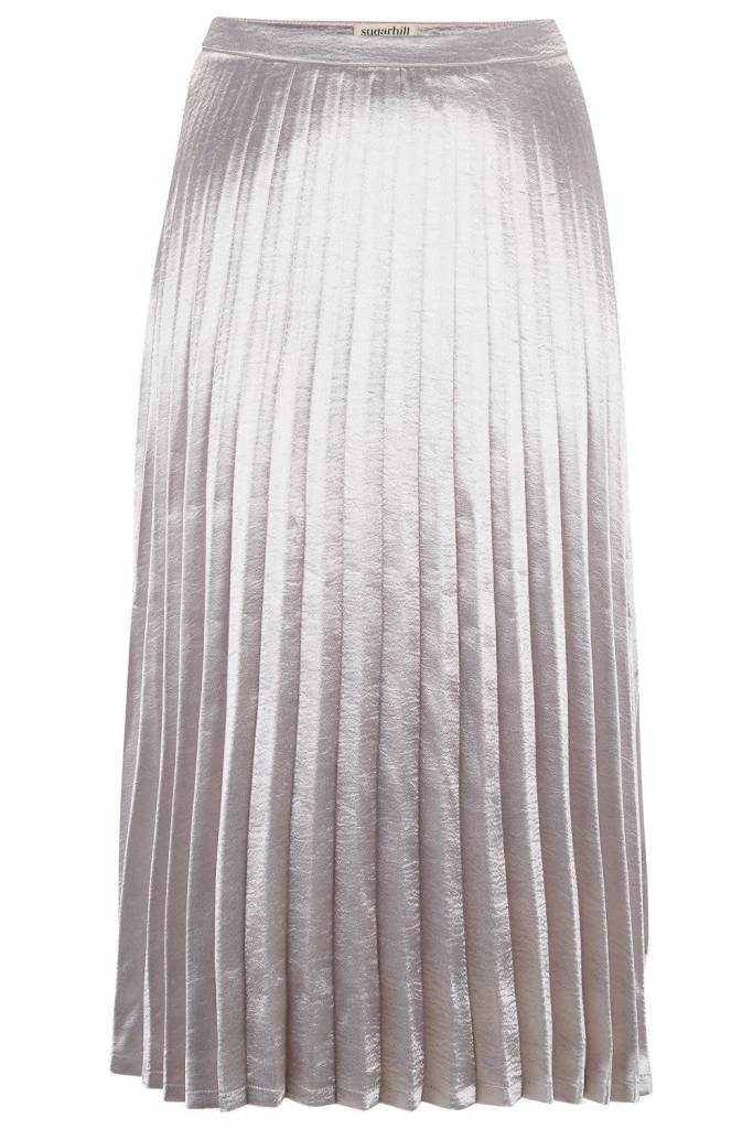 Sugarhill Brighton Lynette Metallic Pleated Skirt