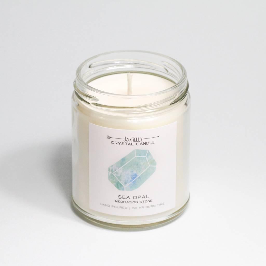 JaxKelly Sea Opal Crystal Candle