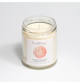 JaxKelly Peach Crystal Candle