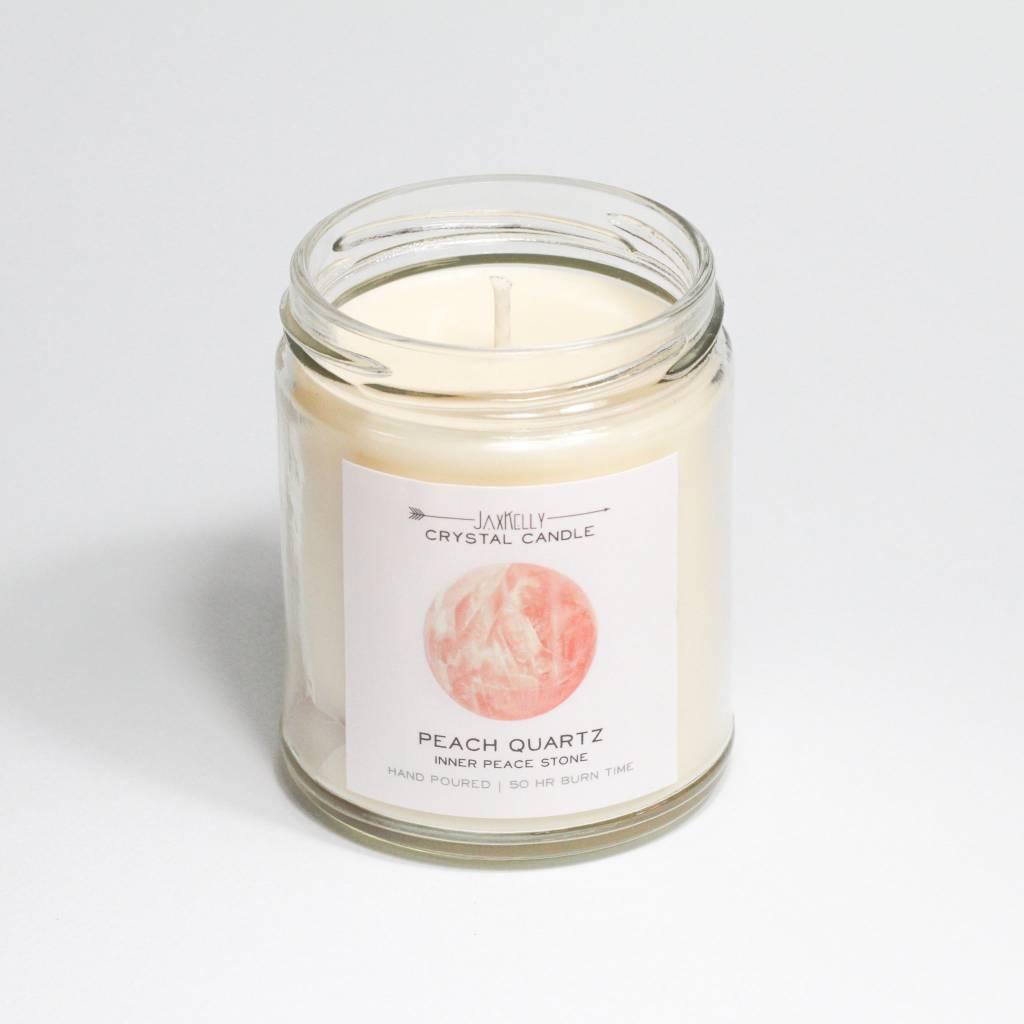 JaxKelly Peach Crystal Candle