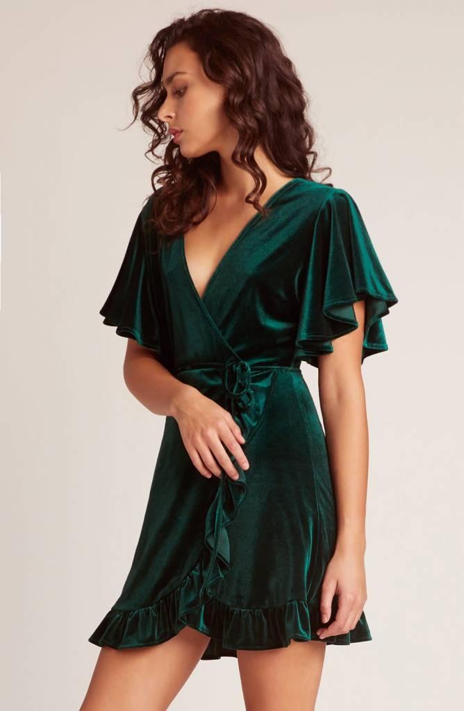 Jack by BB Dakota West Village Velvet Wrap Dress