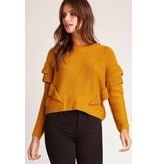 BB Dakota Cabin Fever Ruffle Sweater