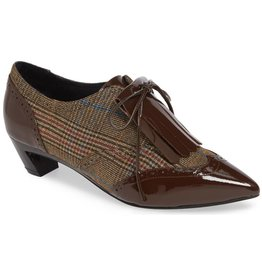 Jeffrey Campbell Alfaro Brown Plaid Oxford