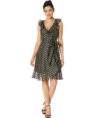 Donna Morgan Lydia Black Wrap Dress