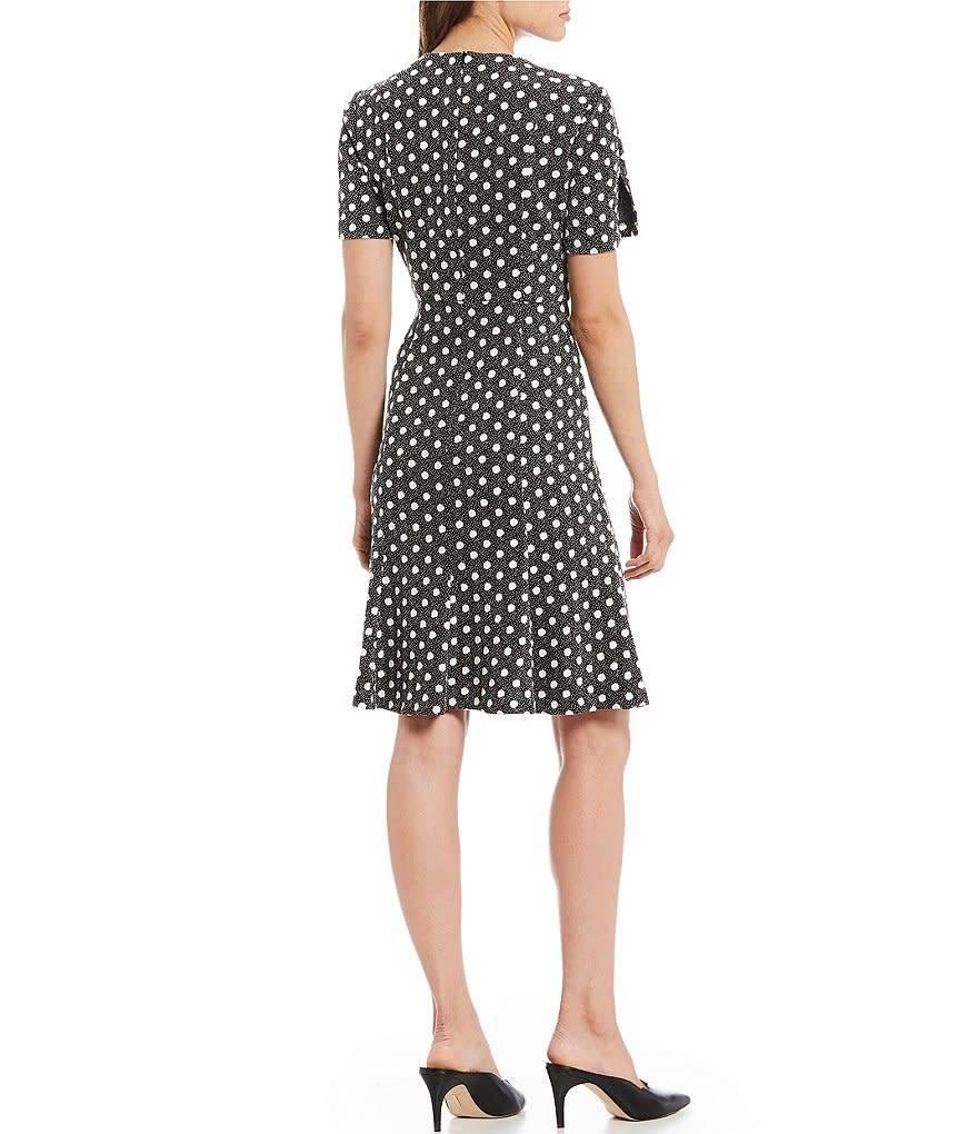 Donna Morgan Lottie Polka Dot Dress
