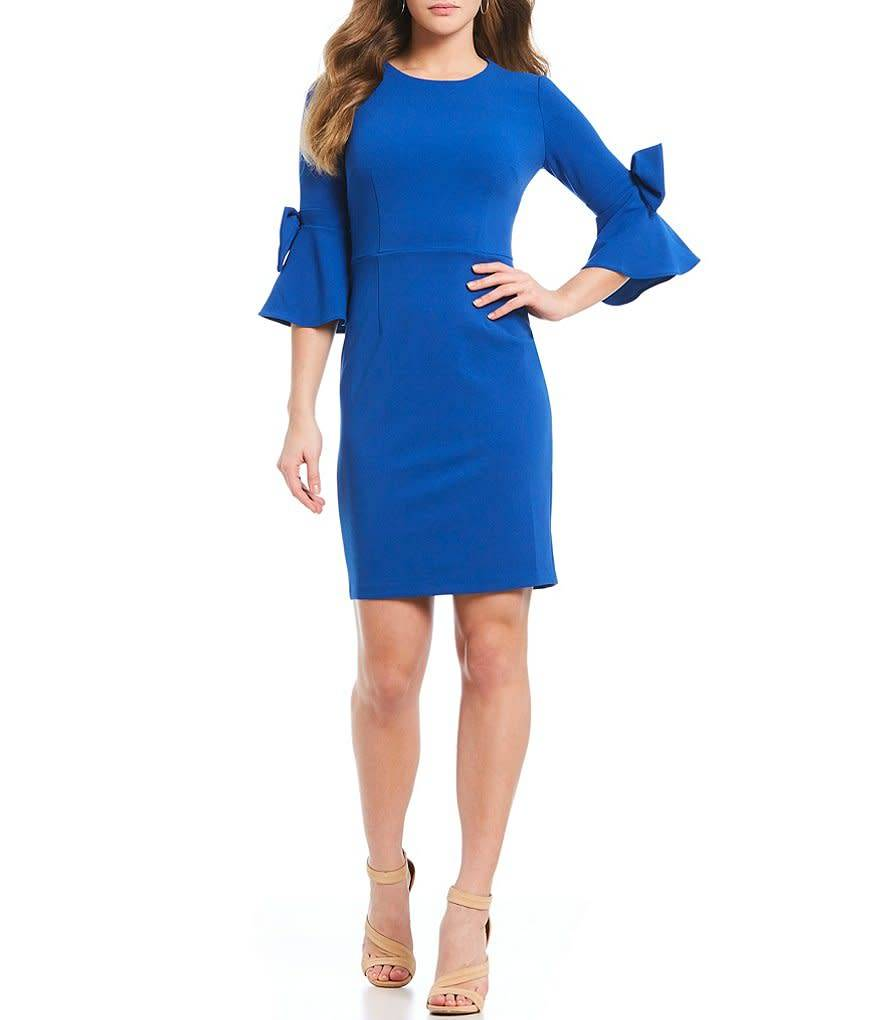 Donna Morgan Theo Blue Dress
