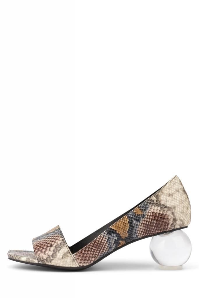 Jeffrey Campbell Coolen Grey Snake Heel