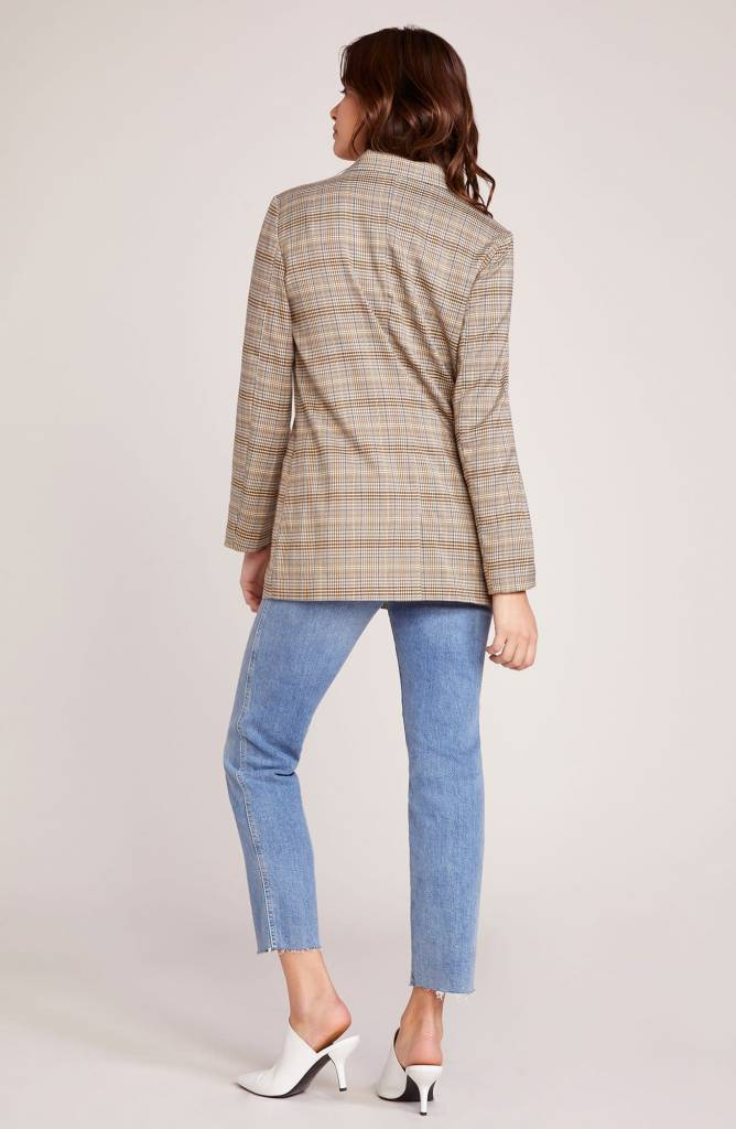 BB Dakota Heather's Plaid Boyfriend Blazer