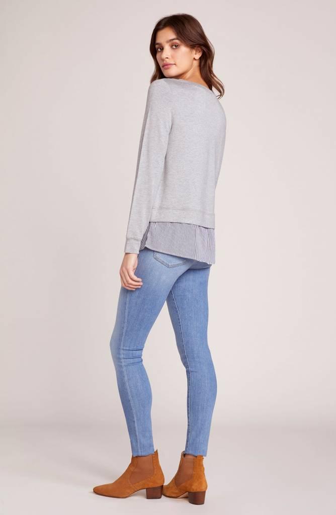 BB Dakota Layer Slayer Shirt Tail Sweater