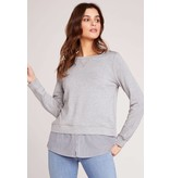 BB Dakota Layer Slayer Shirt Tail Sweater