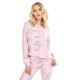 Wildfox Couture Pink Paradise Baggy Beach Jumper