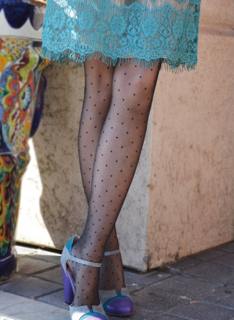 Tabbisocks Pin Dots Black Tights