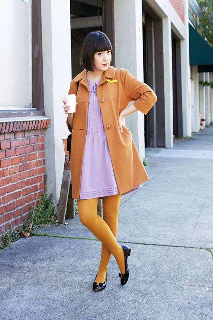 Opaque Tights Mustard