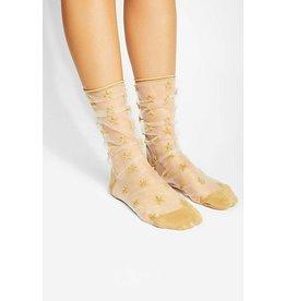 Tabbisocks Clear/Gold Tulle Star Socks